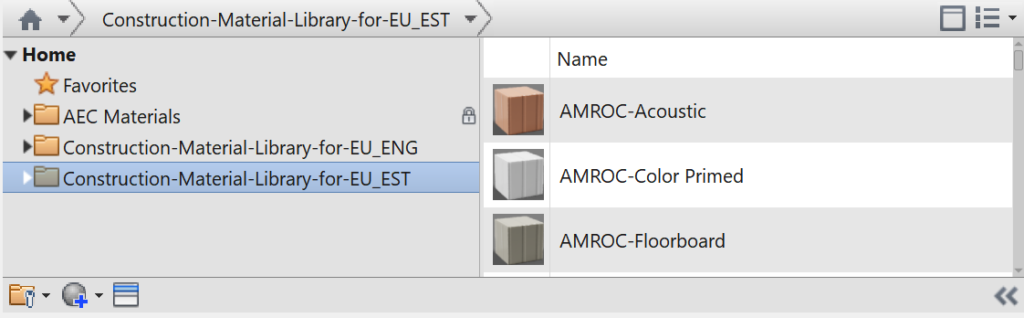 Construction Material Library for EU - FlowBIM